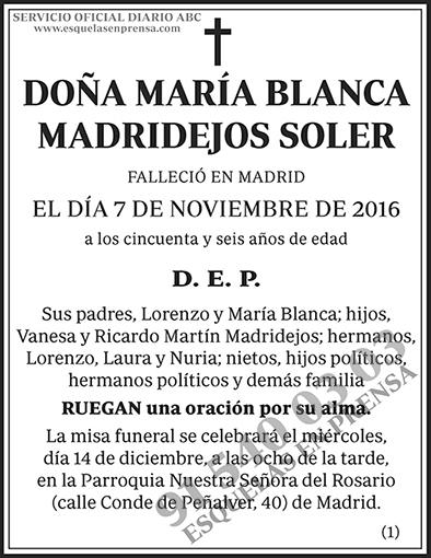 María Blanca Madridejos Soler
